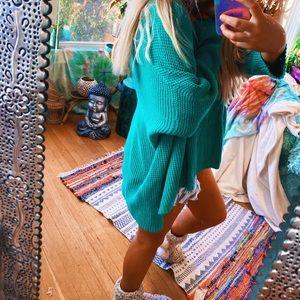 Algae Turquoise Chunky Oversized Sweater ✨